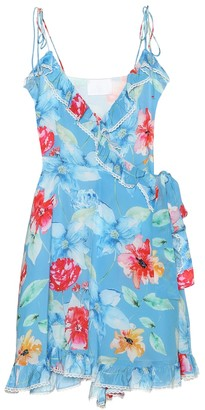Athena Procopiou In Bloom silk minidress