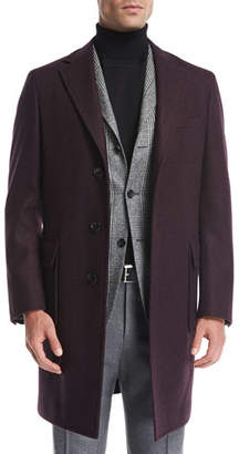 Canali Wool Single-Breasted Top Coat