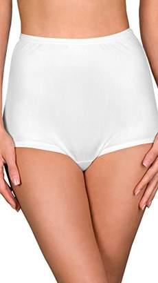 326b9ed5ecfc Shadowline Women's Hidden Elastic Nylon Full Brief Panty 3-Pack,7