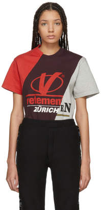 Vetements Tricolor Zurich Cut-Up T-Shirt