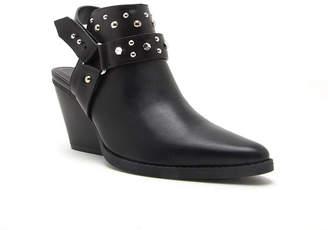 Qupid Womens Zooey 04x Booties Stacked Heel Strap