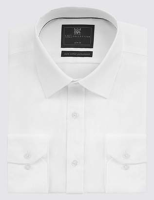 Marks and Spencer Pure Cotton Slim Fit Non Iron Twill Shirt