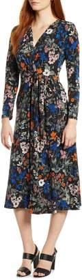 Chaus Botanical Faux Wrap Dress