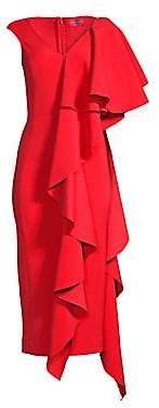 SOLACE London Women's Alora Cascading Ruffle Dress - Size 0