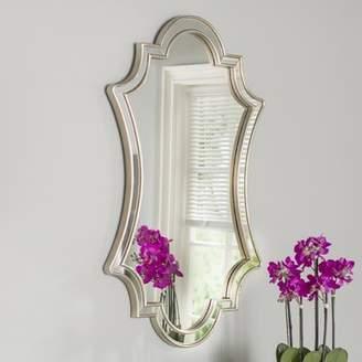 Willa Arlo Interiors Ellison Lightly Antiqued Silver Wall Mirror
