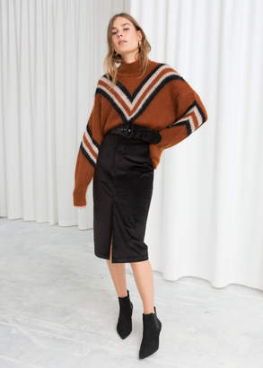 And other stories Belted Corduroy Midi Skirt