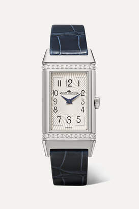 Jaeger-LeCoultre Jaeger Lecoultre Reverso One Medium 20mm Stainless Steel, Diamond And Alligator Watch
