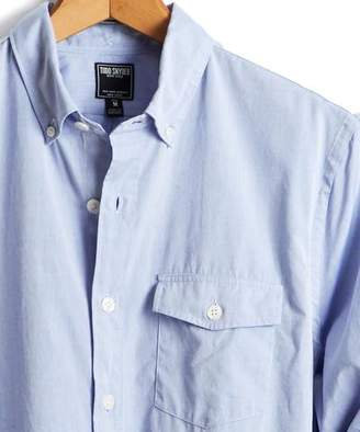Todd Snyder Slim Fit Flap Pocket Button Down Shirt in Light Blue