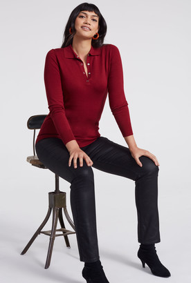 Long Tall Sally Polo Neck Long Sleeve Sweater