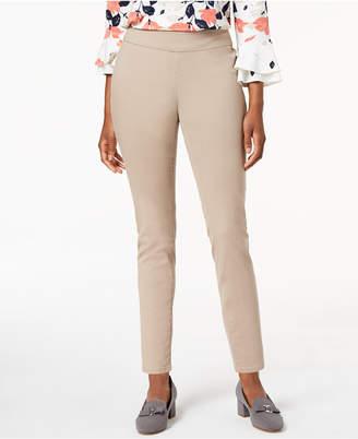 Charter Club Petite Pull-On Slim-Leg Twill Pants