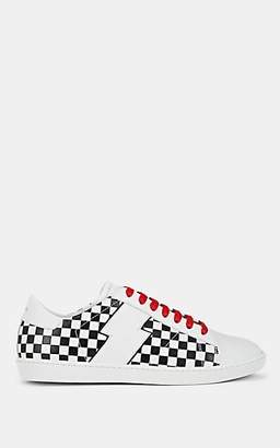 Amiri Men's Viper Checked Leather Sneakers Size 10 Us