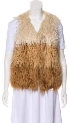 Mother Ombré Faux Fur Vest