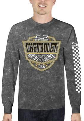 Automotive Chevrolet Men's Long Sleeve Mineral Wash Graphic Tee