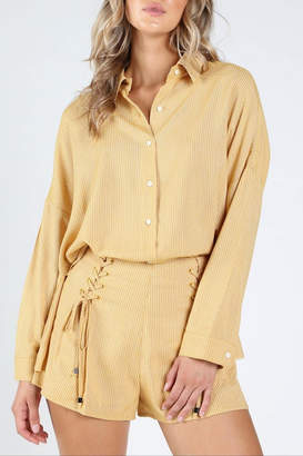 Honey Punch Sunshine-State Button-Down Shirt