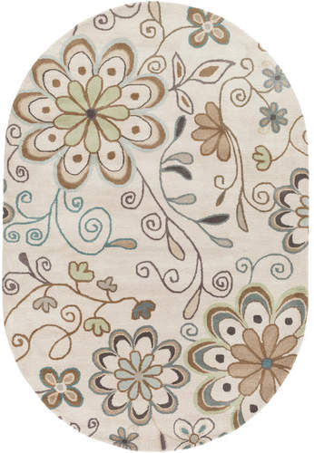 Andover Mills Monticello Beige Floral Area Rug Rug