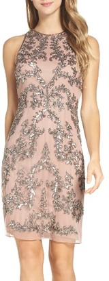 Women's Adrianna Papell Embellished Chiffon Sheath Dress $179 thestylecure.com