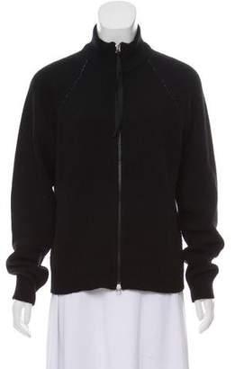 Maison Margiela Wool Zip-Front Cardigan