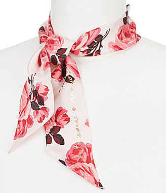 kate spade new york Rosa Floral Silk Neckerchief $48 thestylecure.com