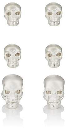 Deakin & Francis Men's Skull Formal Set - Silver
