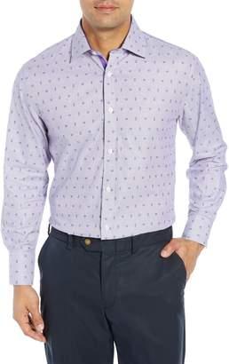 English Laundry Regular Fit Paisley Dress Shirt