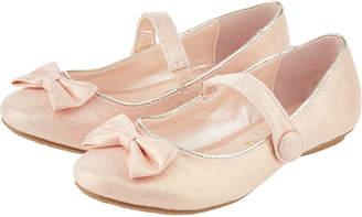 Monsoon Leela Bow Popper Detail Ballet Pumps