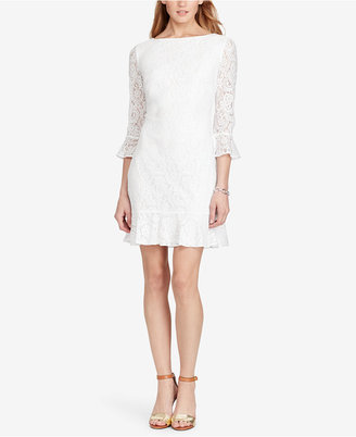 American Living Lace Ruffle Dress $99 thestylecure.com