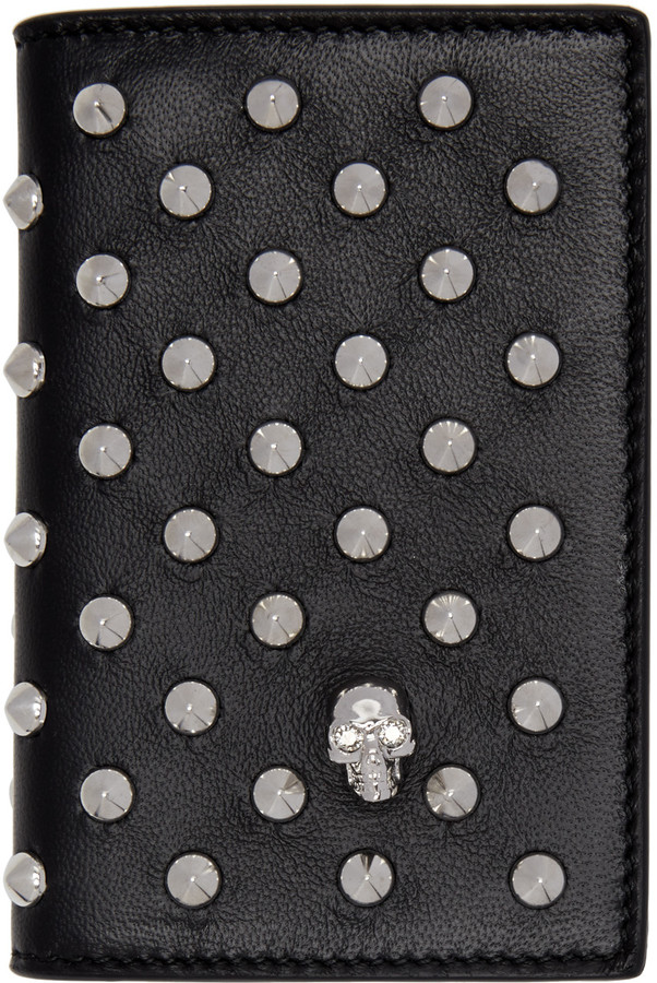 Alexander McQueenAlexander McQueen Black Studded Pocket Organizer