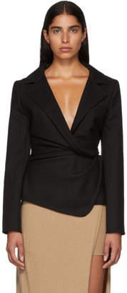Jacquemus Black 'La Vest Baija' Blazer