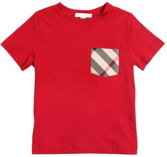 Burberry Cotton Jersey T-Shirt W/ Check Pocket