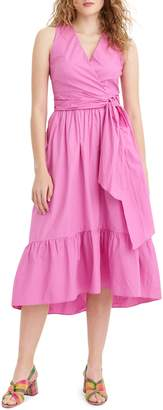 J.Crew Faux Wrap Cotton Poplin Dress