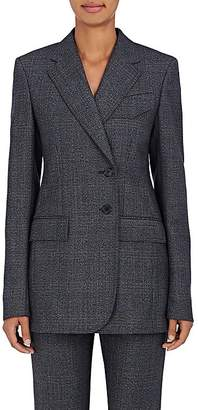 Calvin Klein Women's Checked Wool Two-Button Blazer