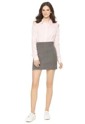 Milly Doubleface Wool Modern Mini Skirt