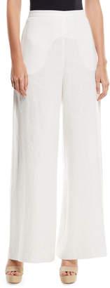 Zimmermann Lovelorn High-Waist Wide-Leg Linen Trousers