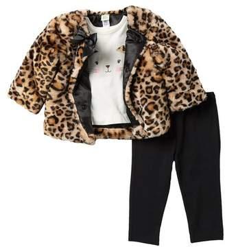 536d9549dc4c Little Girls Faux Jacket Black - ShopStyle