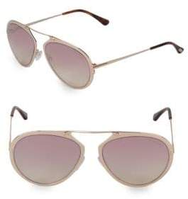 Tom Ford 55MM Round Sunglasses