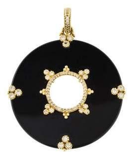 Judith Ripka 18K Diamond & Onyx Pendant