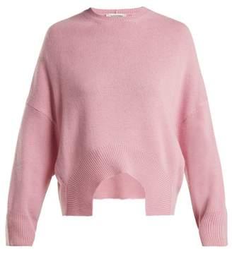 Valentino Curved Hem Cashmere Sweater - Womens - Pink