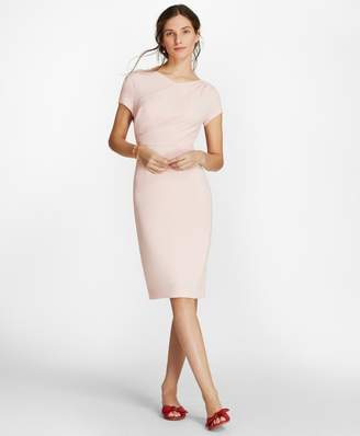 Brooks Brothers Draped Crepe Sheath Dress