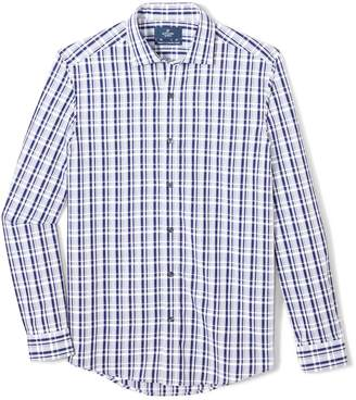 Buttoned Down Men's Tailored Fit Spread-Collar Sport Shirt