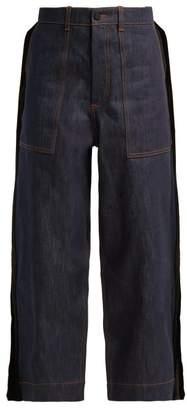 Craig Green Fin Wide Leg Cotton Jeans - Womens - Indigo