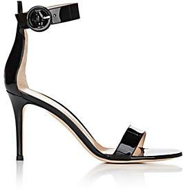 Gianvito Rossi Women's Portofino Patent Leather Ankle-Strap Sandals - Black