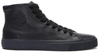 Kenzo Black Leather High-Top Sneakers