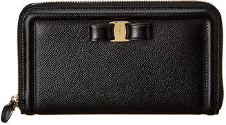 Salvatore Ferragamo Vara Leather Zip Around Wallet