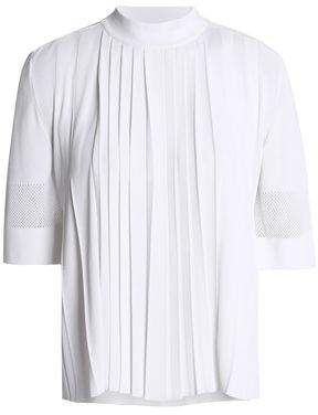 Emilio Pucci Pleated Stretch-Knit Top
