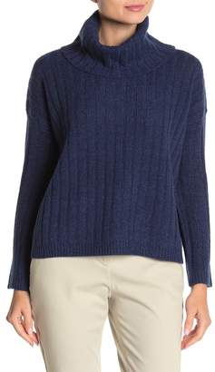 THE CASHMERE PROJECT Ribbed Dolman Sleeve Cashmere Sweater
