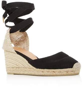 f54fa506e6a4 Castaner Women s Carina Ankle-Tie Espadrille Wedge Sandals