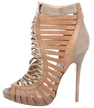 Jimmy Choo Leather High-Heel Sandals grey Leather High-Heel Sandals