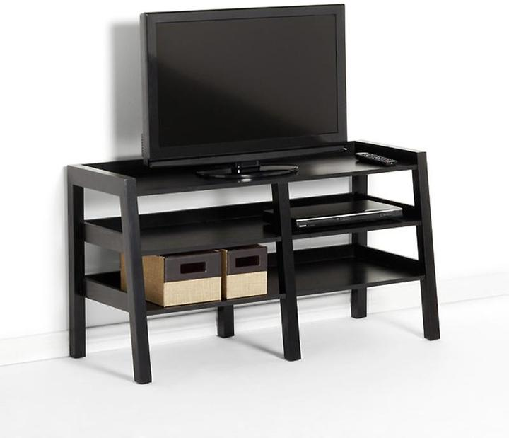Container Store Linea Leaning Media Stand Java