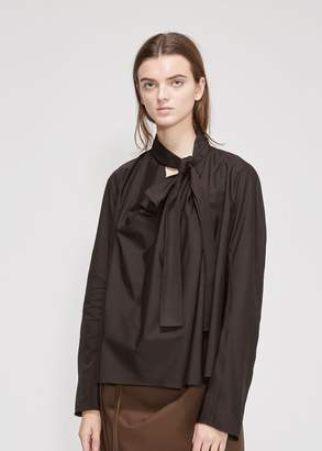 Lemaire Long Sleeve Neck Tie Top