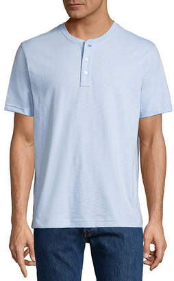 ST. JOHN'S BAY Short Sleeve Henley Shirt-Slim